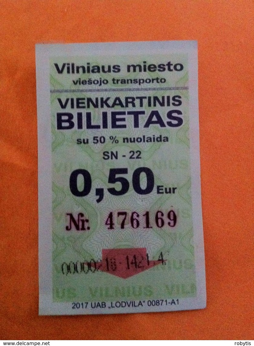 Lithuania One Way Ticket Bus 2017 Vilnius - Bus