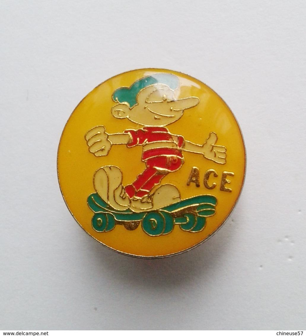 Pin's Skate Ace (MBC Bruxelles) - Skateboard