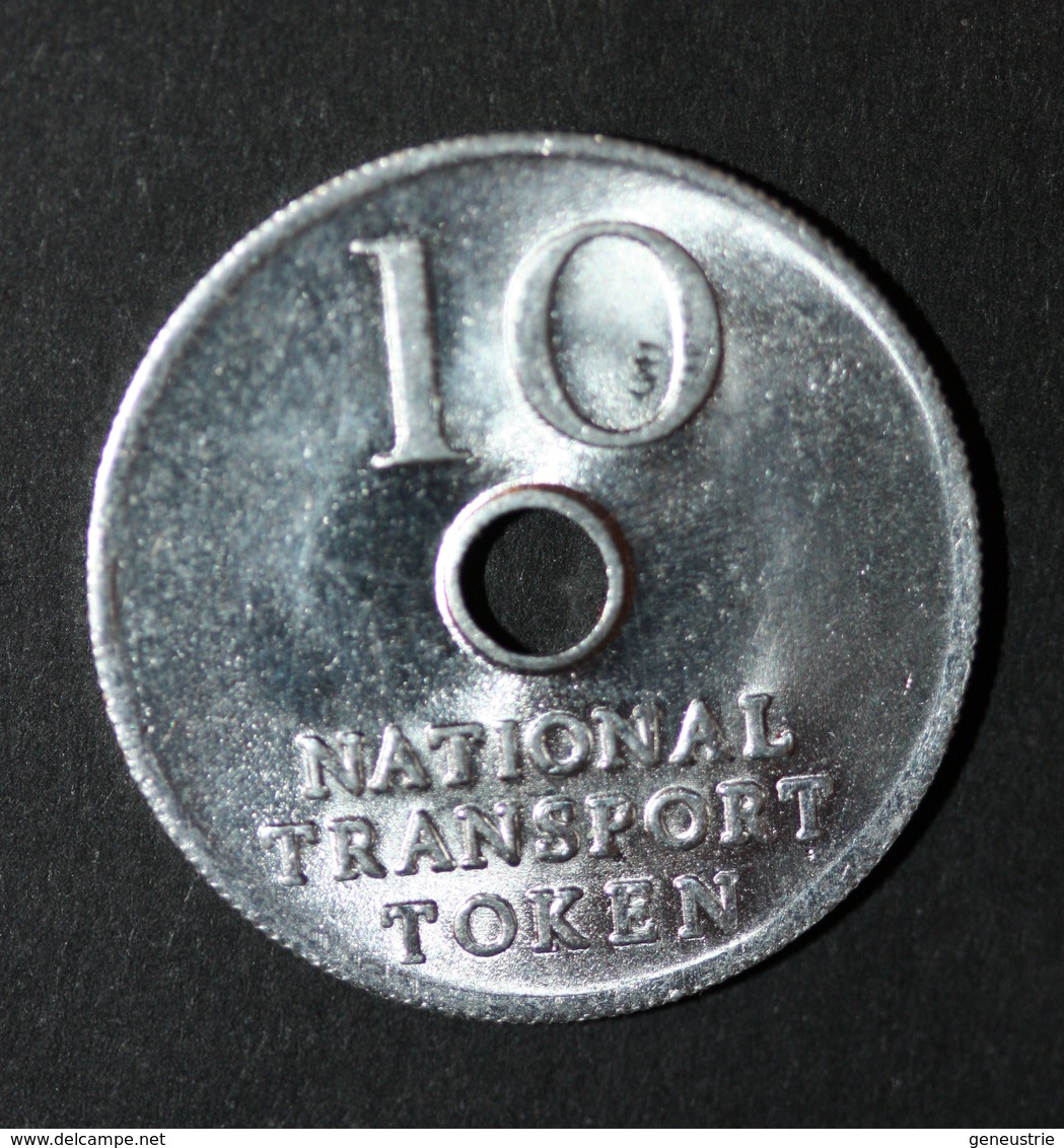 """Jeton De Nécessité De 10 Pence Transport Britannique Ticket De Bus Et Métro """"10 - National Transport Token"""" - Professionnels/De Société"""