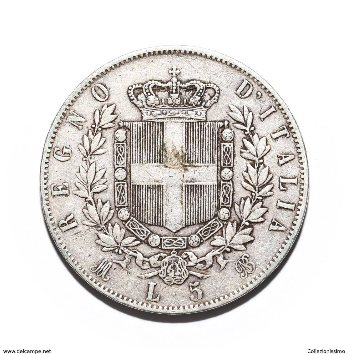 5 Lire - Vittorio Emanuele II - 1872 Milano - 1861-1878 : Victor Emmanuel II