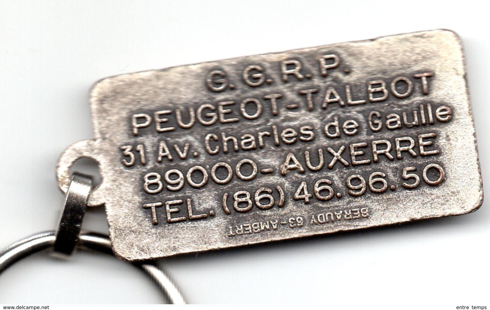 Porte Clefs Talbot  Auxerre Ets GGRP - Porte-clefs