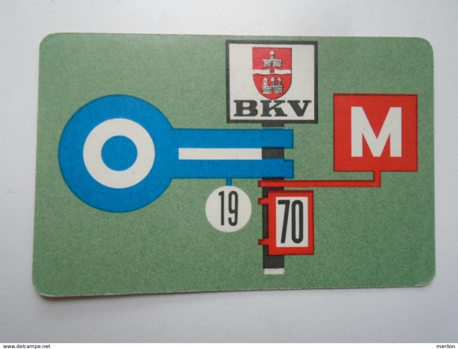 D156611 Hungary  - Local Transport Budapest  BKV Bus Tram Train Subway  - Pocket Calendar - Calendrier Poche 1970 - Petit Format : 1961-70