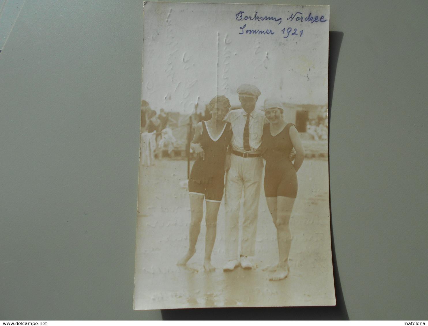 ALLEMAGNE BASSE SAXE BORKUM NORDSEE SOMMER 1921   PHOTO - Borkum