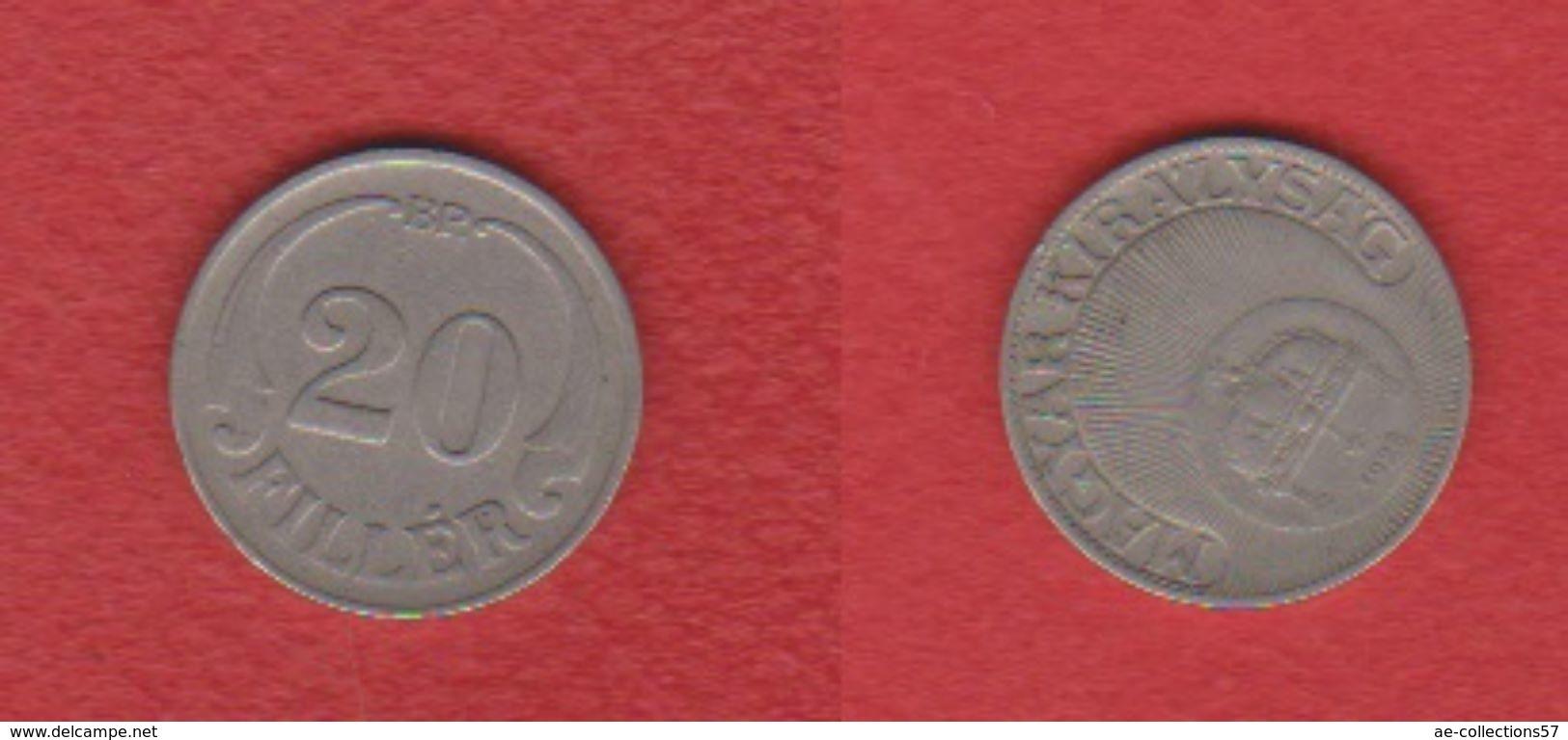 Hongrie  / KM 508 / 20 Filler  1926 BP  / TB - Hongrie