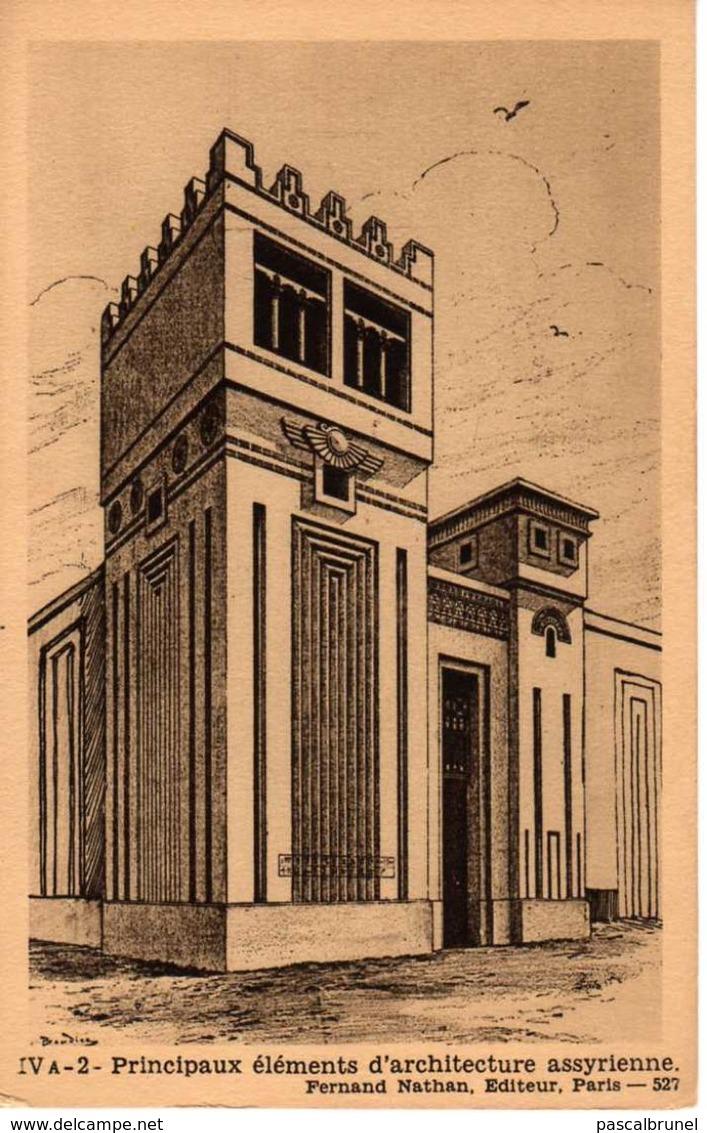 PRINCIPAUX ÉLÉMENTS D'ARCHITECTURE ASSYRIENNE - Monuments