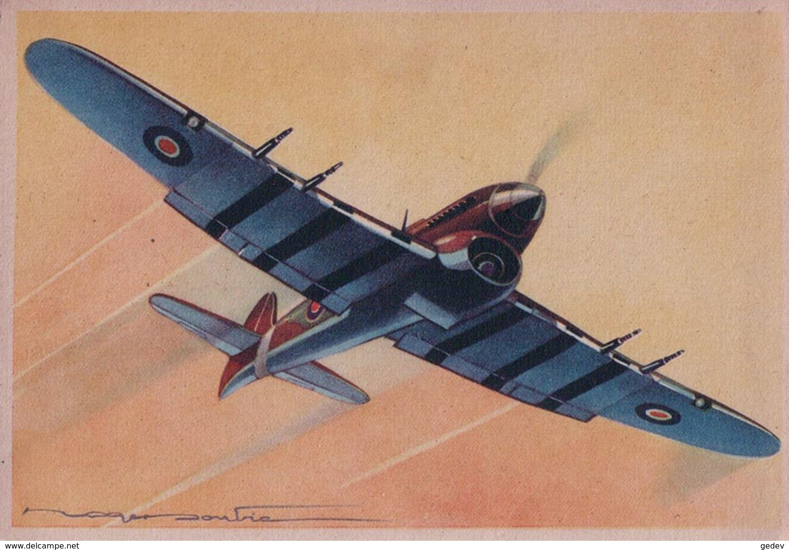 Aviation, Hawker THYPHON Par Illustrateur (620) 10x15 - 1939-1945: 2ème Guerre