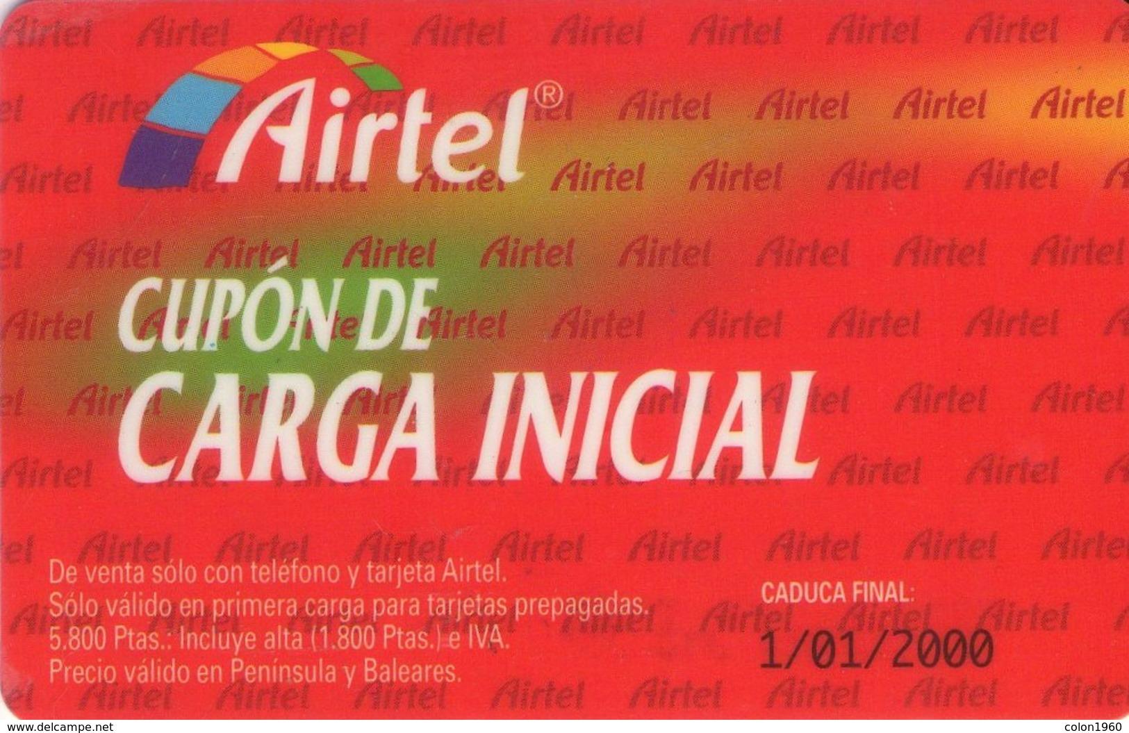 TARJETA TELEFONICA DE ESPAÑA, (PREPAGO) 187. - Airtel