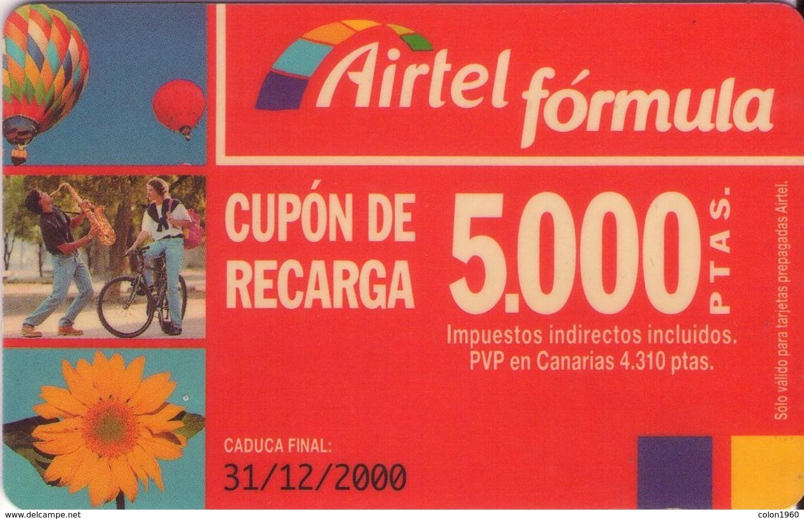 TARJETA TELEFONICA DE ESPAÑA, (PREPAGO) 191. - Airtel