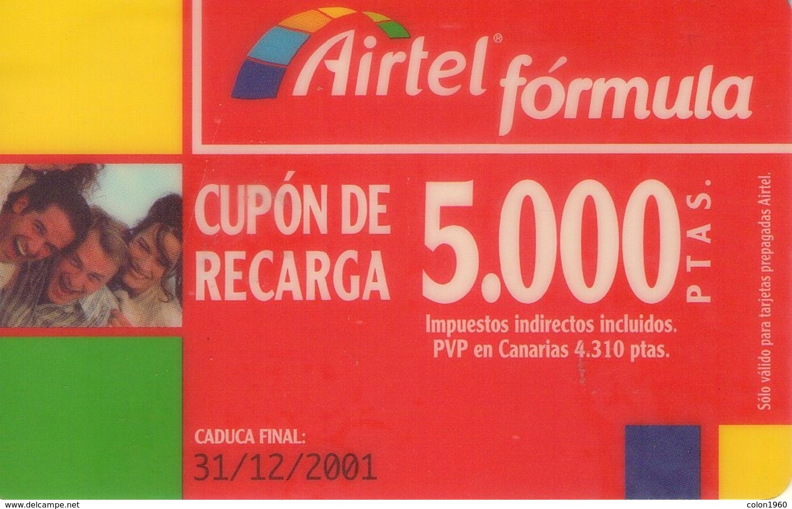 TARJETA TELEFONICA DE ESPAÑA, (PREPAGO) 194. - Airtel