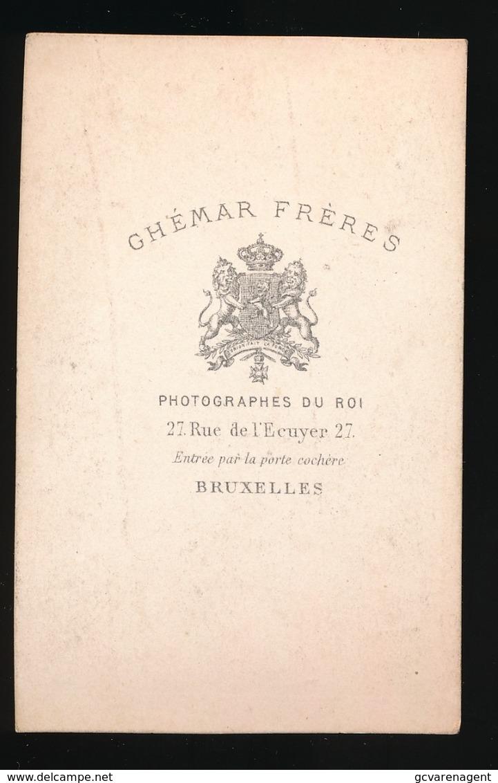 BRUXELLES  = PHOTO  GHEMAR FRERE PHOTOGRAPHES DU ROI - LEOPOLD II  - 2 SCANS - Foto's