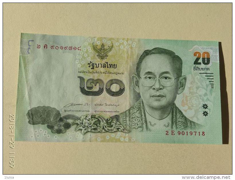 20  Baht 2017 - Tailandia