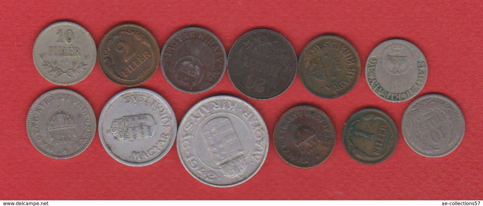 Hongrie / Lot De 12 Monnaies - Hungary