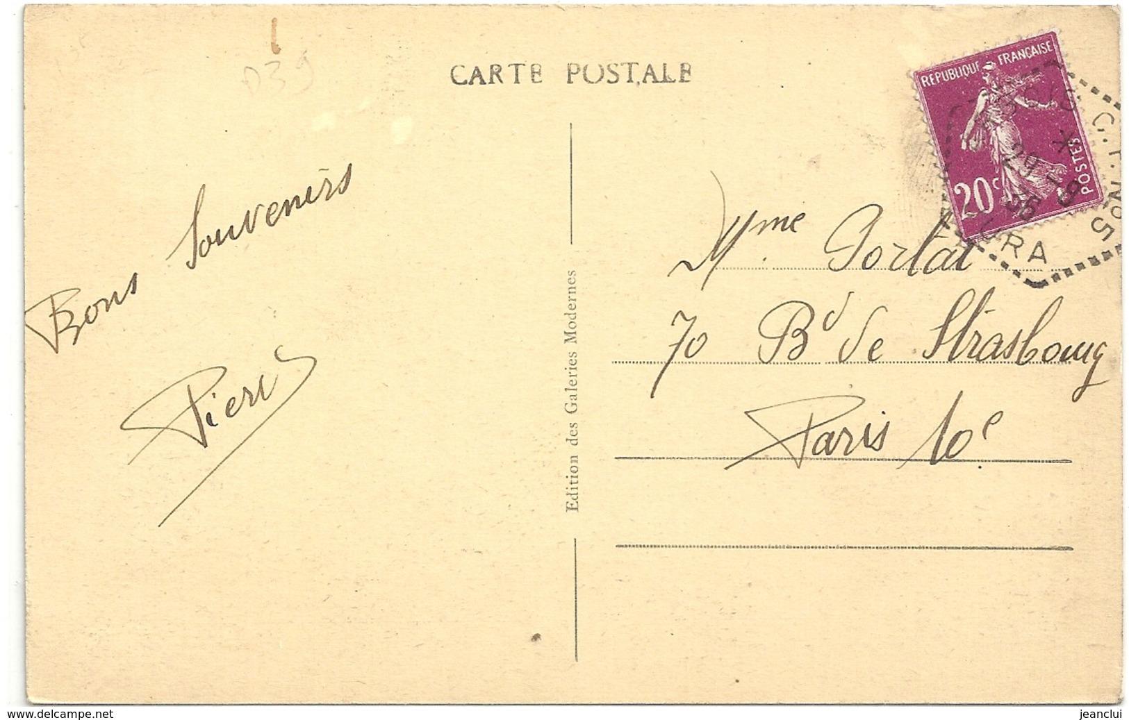"""LE JURA PITTORESQUE - ARBOIS - VUE GENERALE( Depuis Les Vignes ) OBLIT HOCTOGONALE """"ARBOIS C.I N°5 """" 2 SCANES - Arbois"""