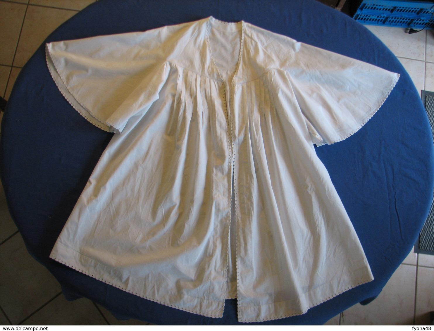 43 - Chemise En Coton Fin Ou Lin Monogrammé MS - 1900-1940
