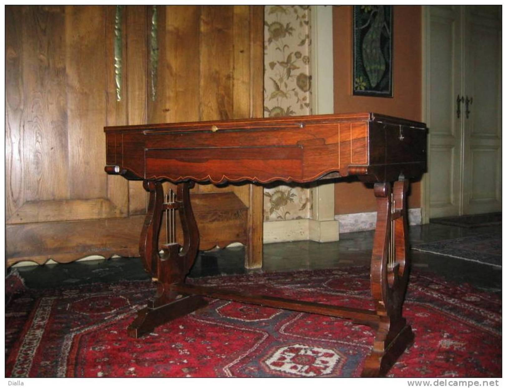 Table De Jeu, Acajou Maquetterie, Style  Biedermeier D'époque, +- 1830 - Meubels
