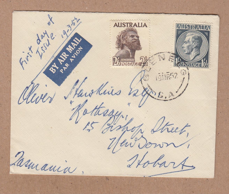 Australia FDC 1952 2/6d Aborigine - Postally Used - FDC