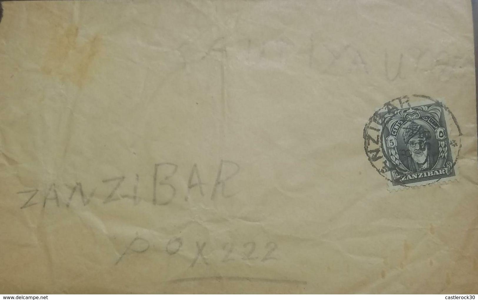 L) 1952 ZANZIBAR, SULTAN KALIF BIN HARUB, 5 CENTS, XF - Zanzibar (1963-1968)