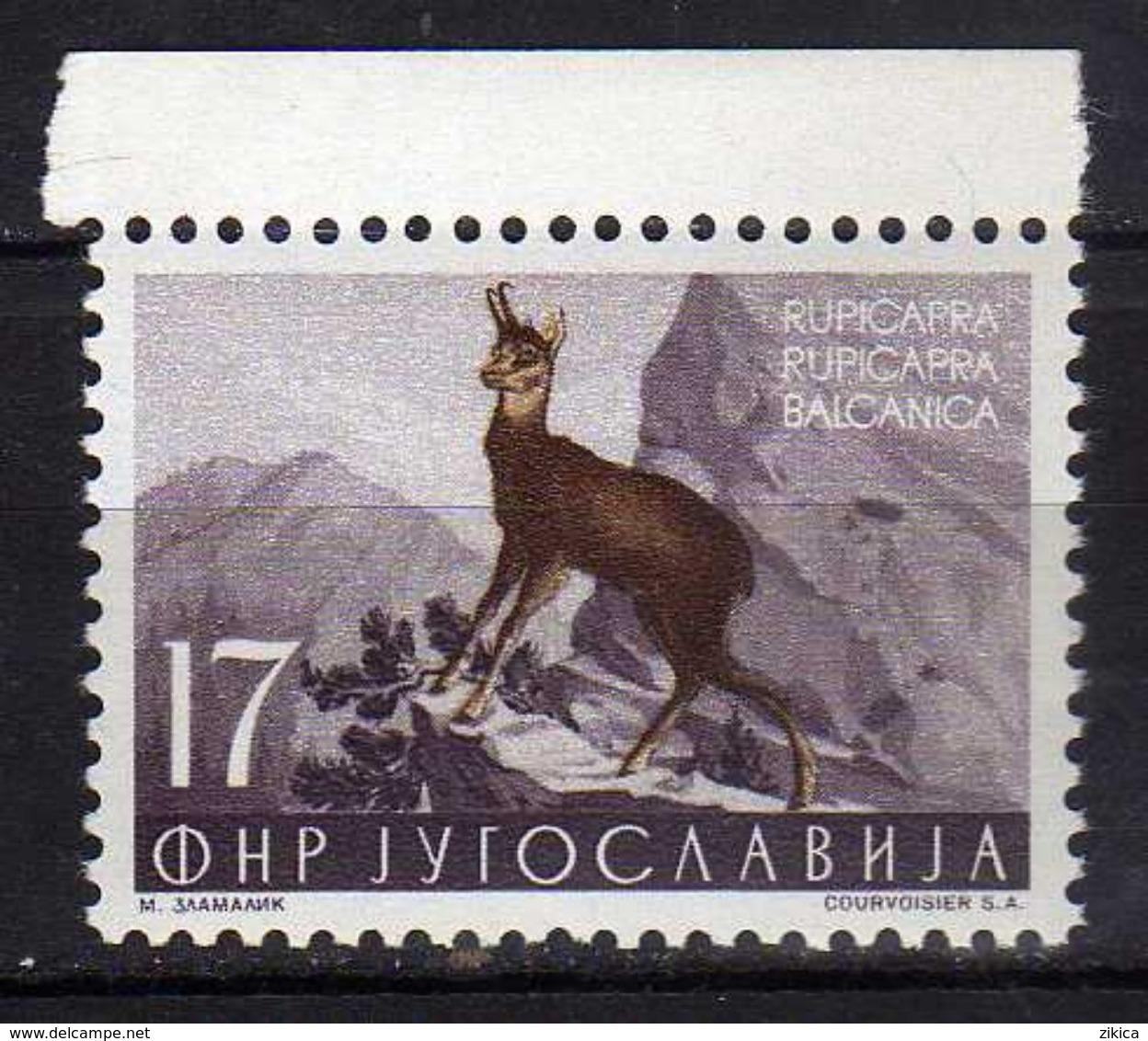 Yugoslavia 1954 Local Fauna.- Animals Mammals Rupicapra  Goat Antelope  Chamois ( Rupicapra Rupicapra ) MNH - 1945-1992 Socialistische Federale Republiek Joegoslavië