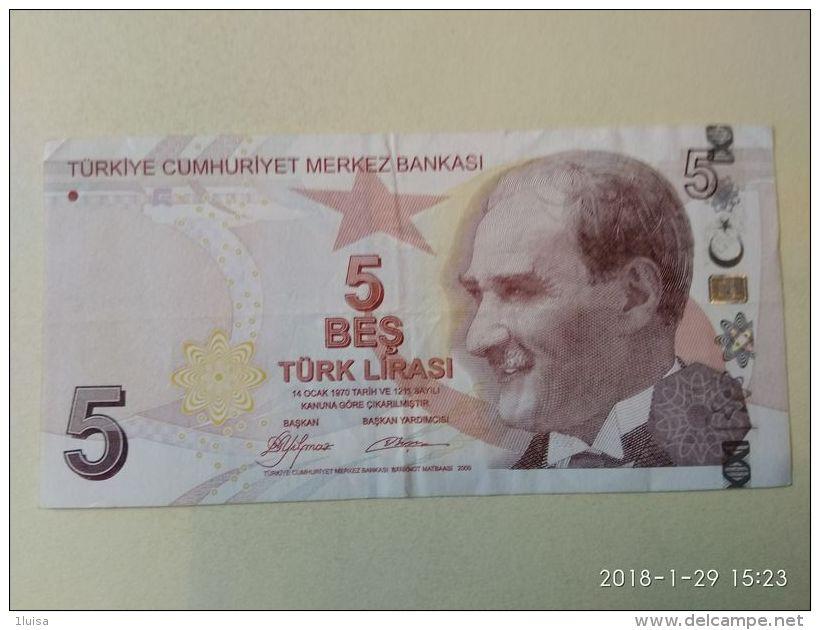 5 Lirasi 2009 - Turchia
