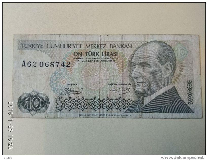 10 Lirasi 1970 - Turchia