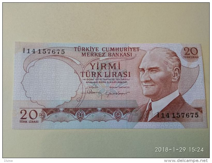 20 Lirasi 1970 - Turchia