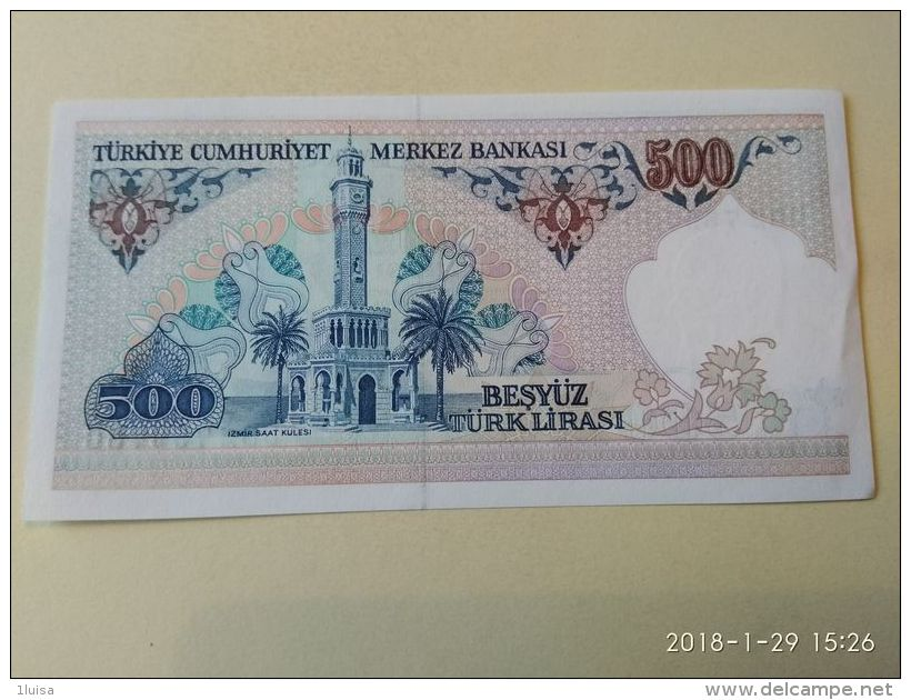 500 Lirasi 1970 - Turchia