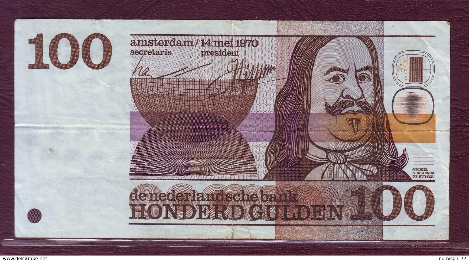 PAYS - BAS - 100 GULDEN Michiel Adriaensz De Ruyter - 14/05/1970 - P.93 - [2] 1815-… : Royaume Des Pays-Bas