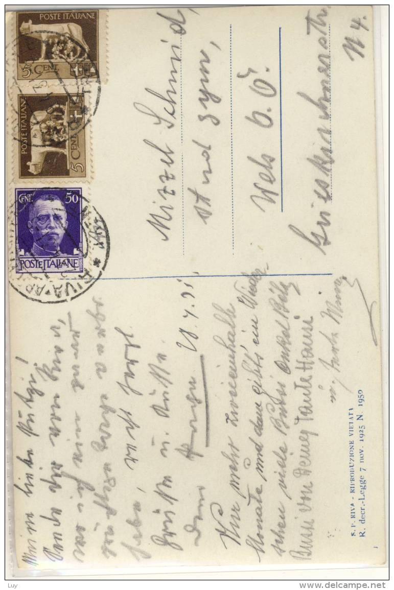 RIVA DEL GARDA PIAZZETTA GIUSEPPE CRAFFONARA  VIAGGIATA 1931 - Italia