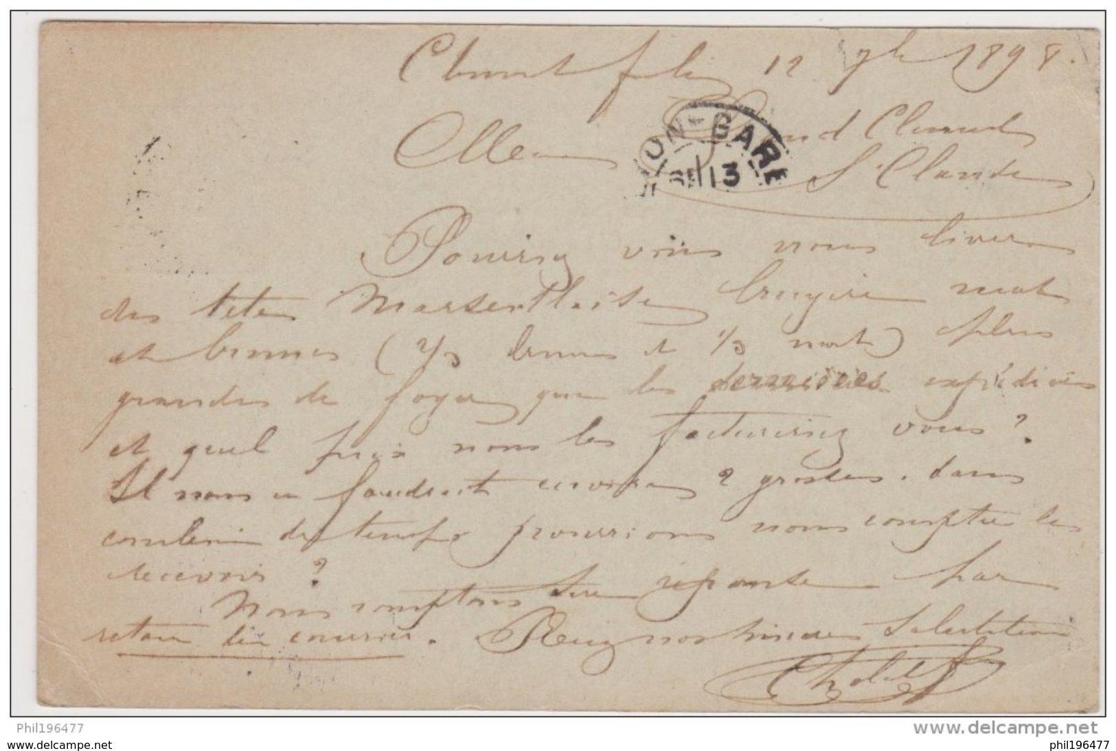 Commerce - Cpa / Carte De Commerce - 1898. - Commercio
