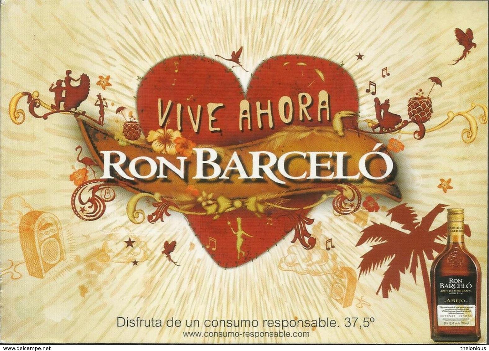 CARTOLINA - VIVE AHORA - RON BARCELO' RUN DOMENICANO - Commercio