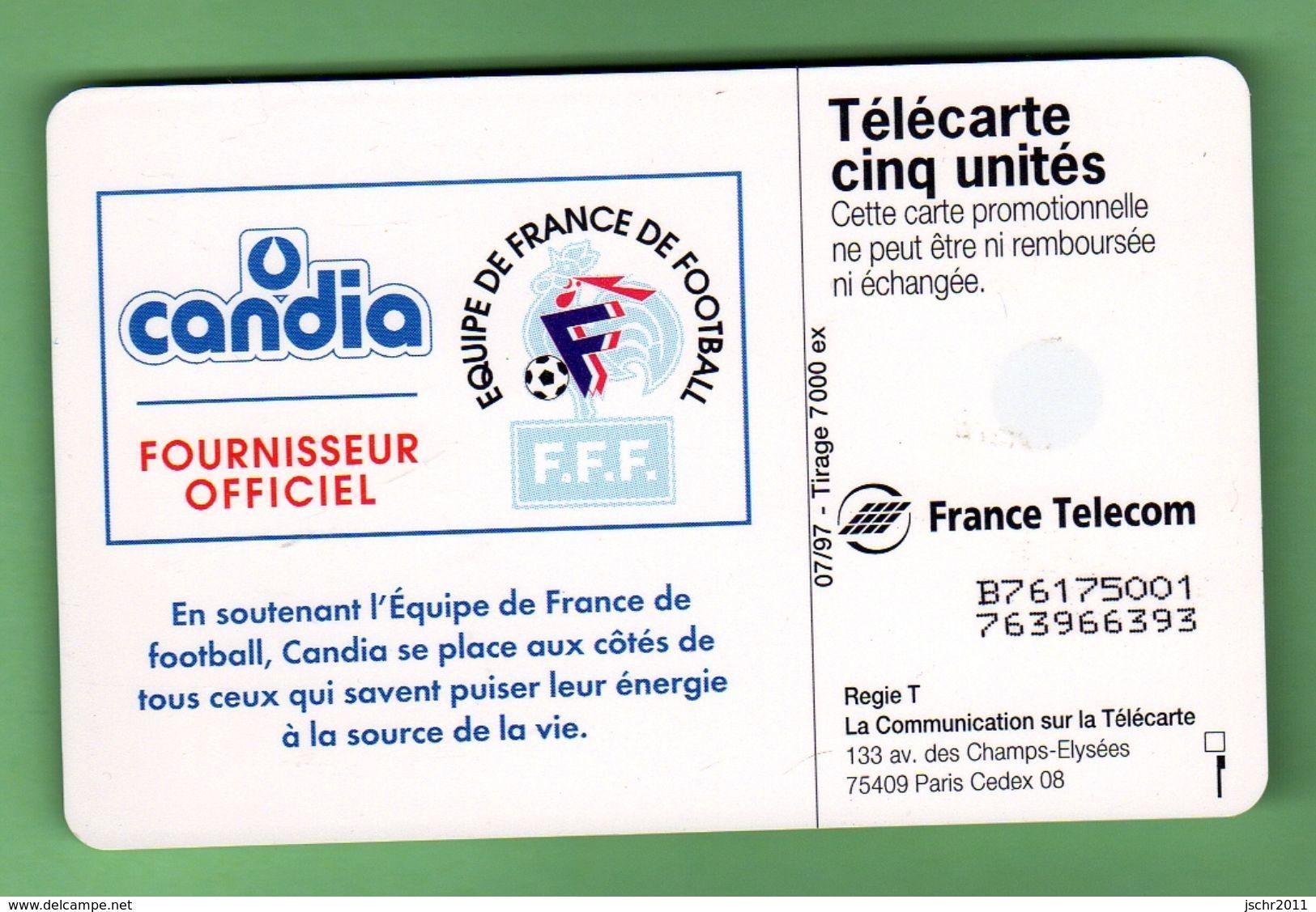 DS10 5 Unites CANDIA EQUIPE DE FRANCE 07/97 *** LUXE *** (A220-P17) - Francia
