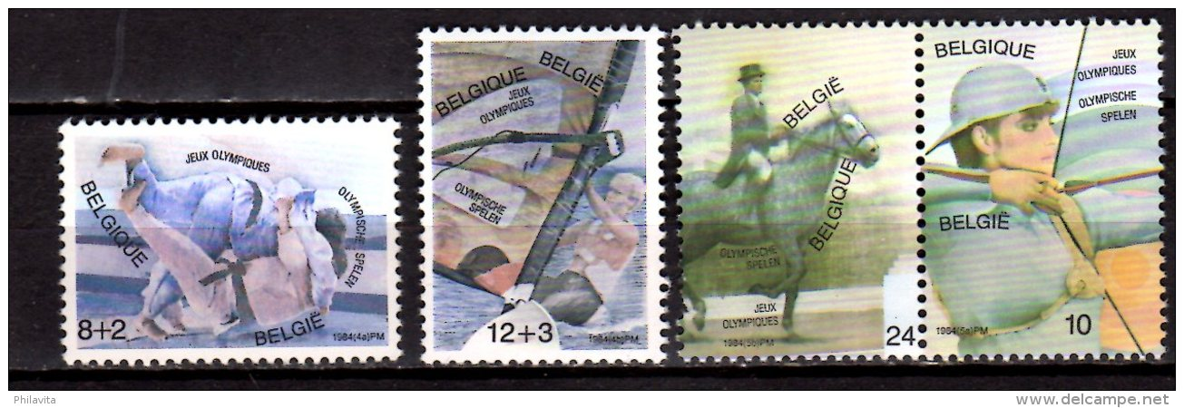 1984 Belgium / Belgique - Olympic Games In Los Angeles - 4v  2171-2174 MNH** Archery, Judo, Horse Riding, Sail - Ongebruikt