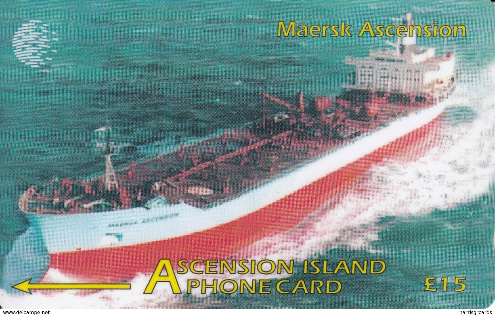 Ascension - Maersk Ascencion, CN:268CASB, 5.000 Tirage ,used - Ascension (Insel)