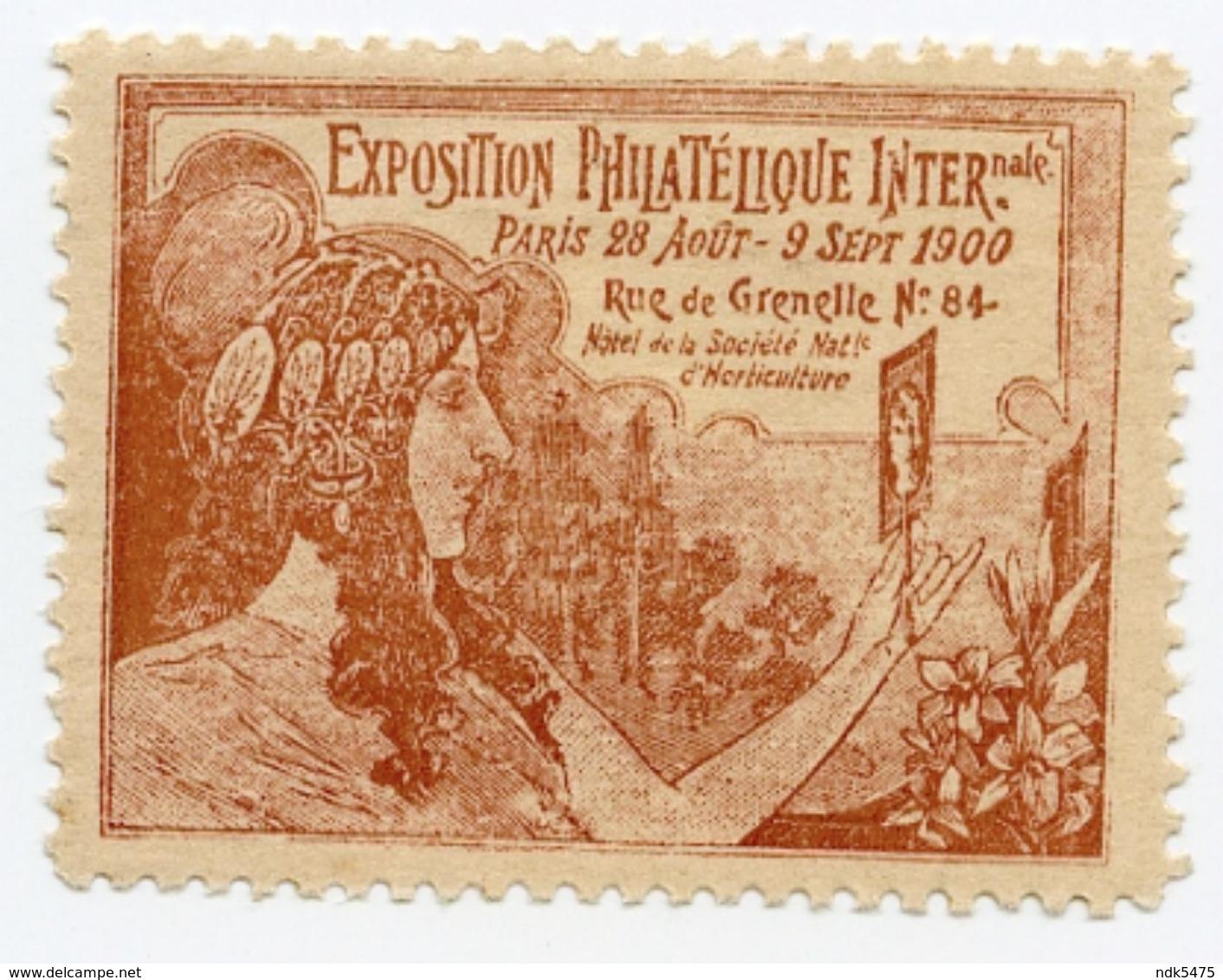 CINDERELLA : FRANCE - PARIS, EXPOSITION PHILATELIQUE INTERNATIONALE, 1900 - Cinderellas