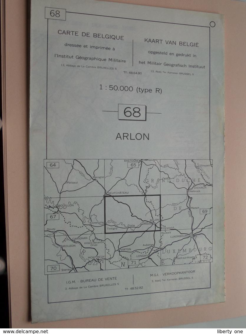 ARLON ( Nr. 68 ) Anno 1962 - Schaal / Echelle / Scale 1: 50.000 ( Stafkaart : Zie Foto's ) ! - Geographical Maps