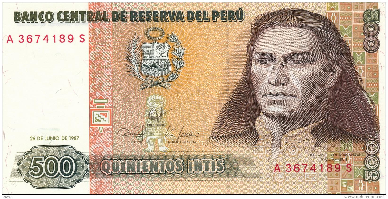 H31 - PEROU - Billet De 500 INTIS - 1987 - Pérou