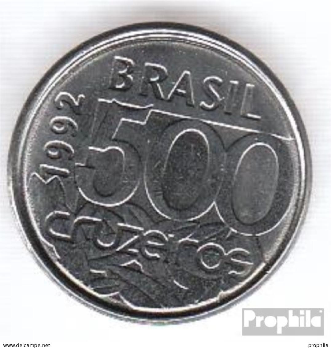 Brasilien KM-Nr. : 624 1992 Vorzüglich Stahl Vorzüglich 1992 500 Cruzeiros Schildkröte - Brasilien