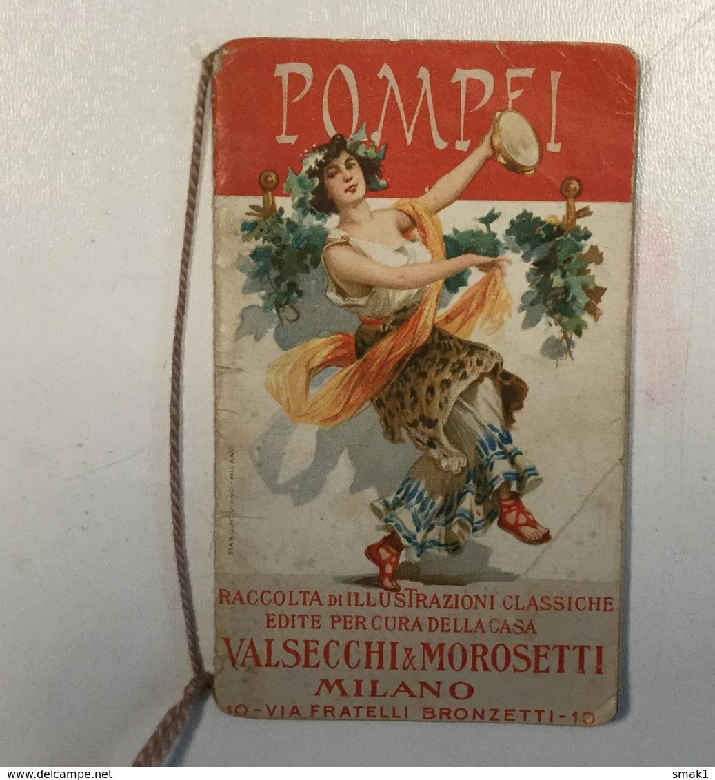 AK   POMPEI  CALENDARIO  LITHO  1908.    VALSECCHI &  MOROSETTI - Grossformat : 1901-20