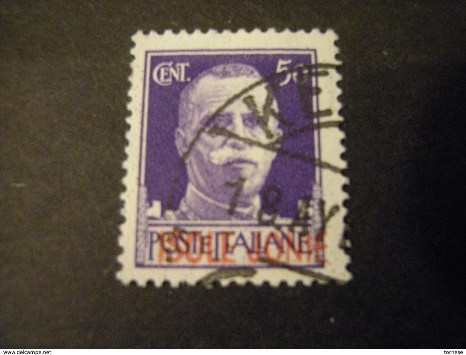 ISOLE JONIE - 1941, IMPERIALE, Sass. N. 6,  Cent. 50, Usato  TTB, OCCASIONE - 9. WW II Occupation (Italian)