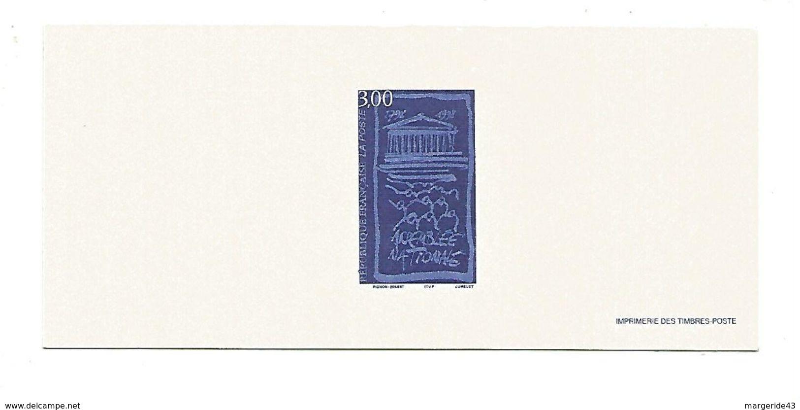 GRAVURE DU N°3132 BICENTENAIRE ASSEMBLEE NATIONALE - Documents De La Poste