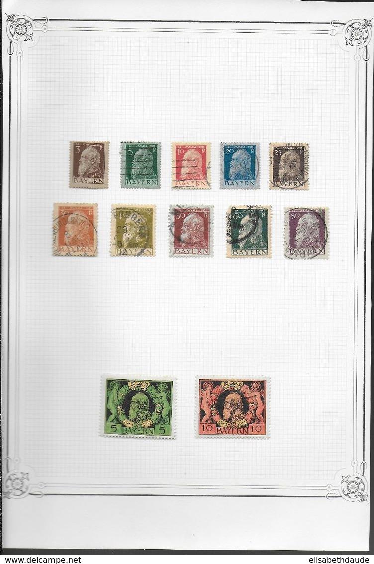 ALLEMAGNE - COLLECTION ANCIENS ETATS - MAJORITE OBLITERES - 13 SCANS - DEPART 10 EURO ! - Collections