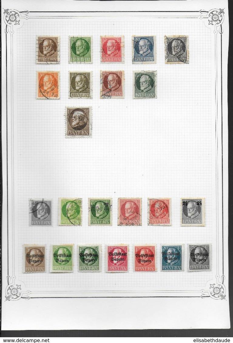 ALLEMAGNE - COLLECTION ANCIENS ETATS - MAJORITE OBLITERES - 13 SCANS - DEPART 10 EURO ! - Deutschland
