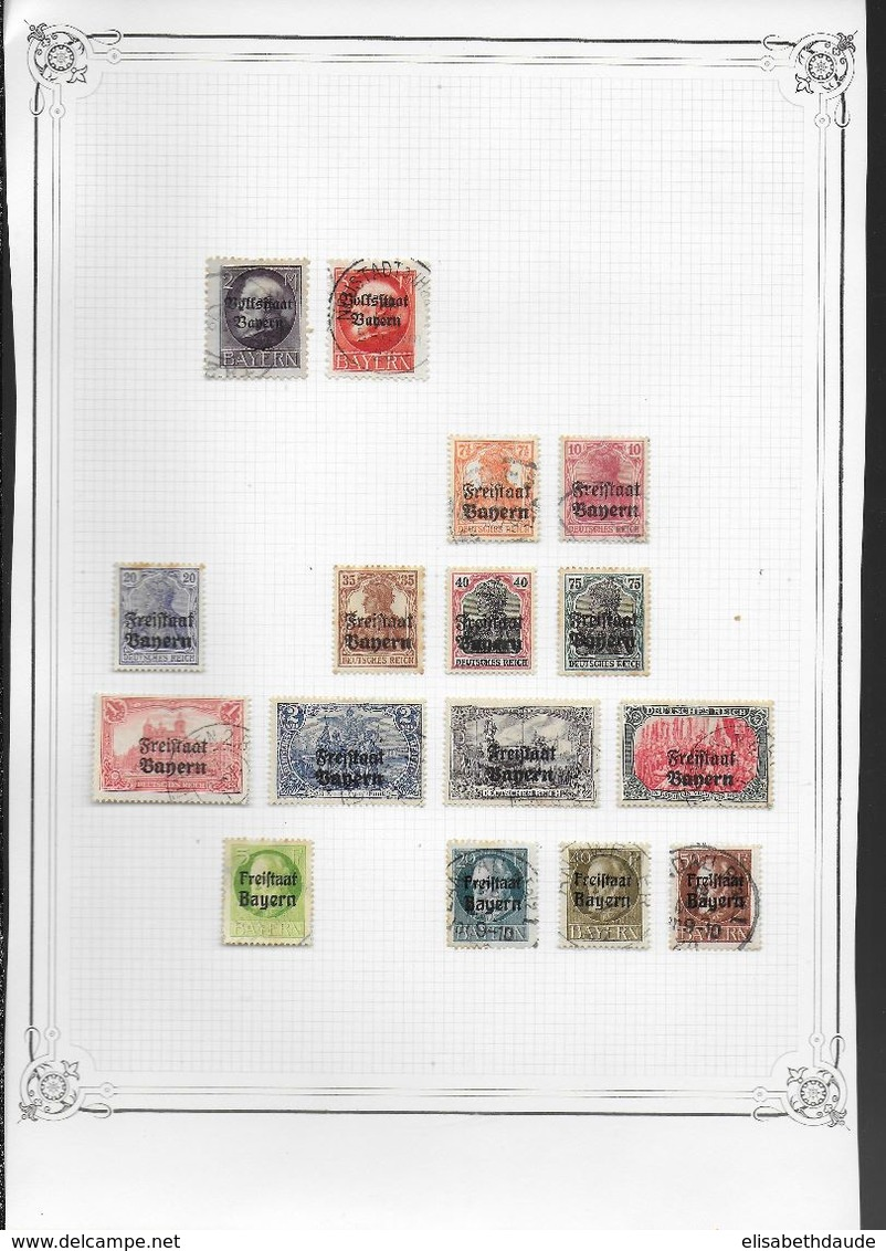 ALLEMAGNE - COLLECTION ANCIENS ETATS - MAJORITE OBLITERES - 13 SCANS - DEPART 10 EURO ! - Germany