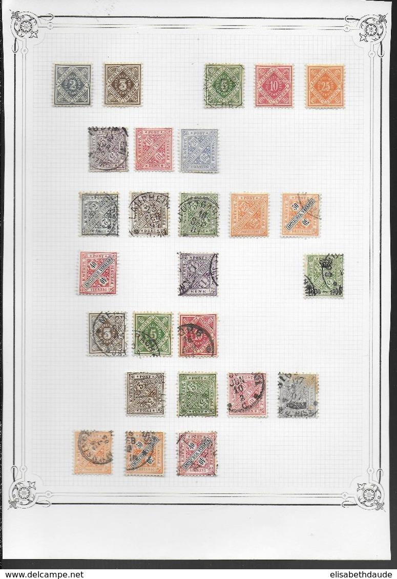 ALLEMAGNE - COLLECTION ANCIENS ETATS - MAJORITE OBLITERES - 13 SCANS - DEPART 10 EURO ! - Allemagne