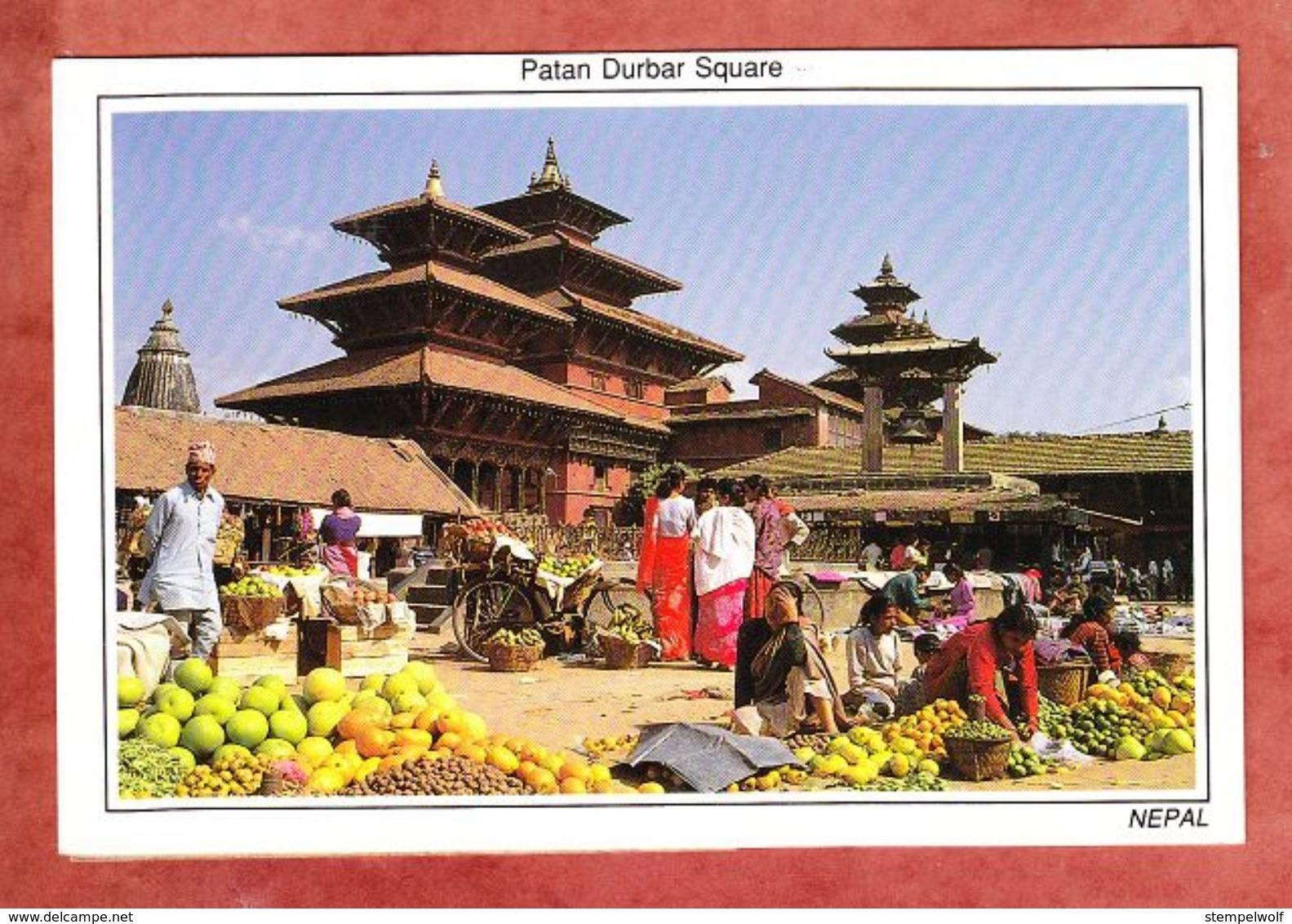 Kathmandu, Durbar Square, EF Pflanze, Nach Gerlingen 2002 (46028) - Nepal