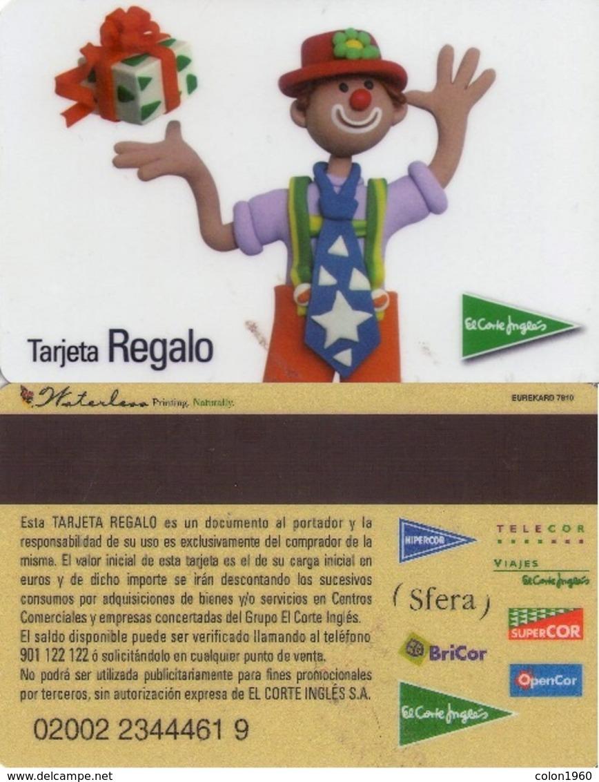 TARJETA REGALO DE ESPAÑA, GIFT CARD. EL CORTE INGLES. 019. - Tarjetas De Regalo