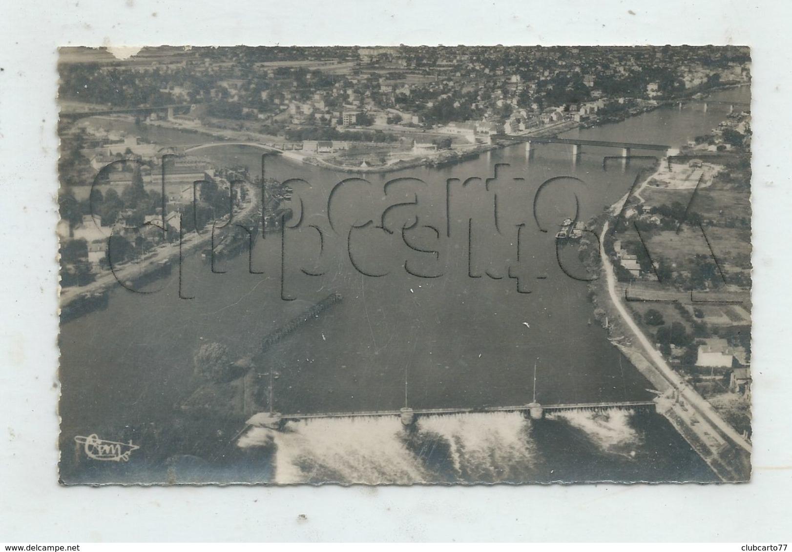 Conflans-Saint-Honorine (78) : Vue Générale Aérienne Au Niveau Du Barrage Et De La Jonction Seine-Oise En 1950 PF. - Conflans Saint Honorine
