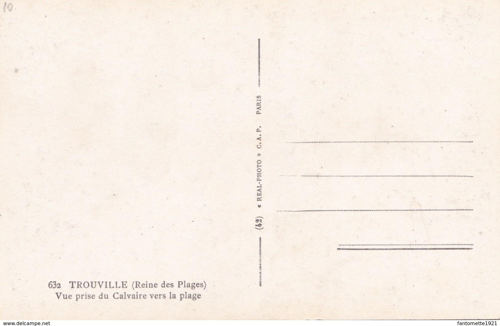 TROUVILLE VUE PRISE DU CALVAIRE VERS LA PLAGE (dil291) - Trouville