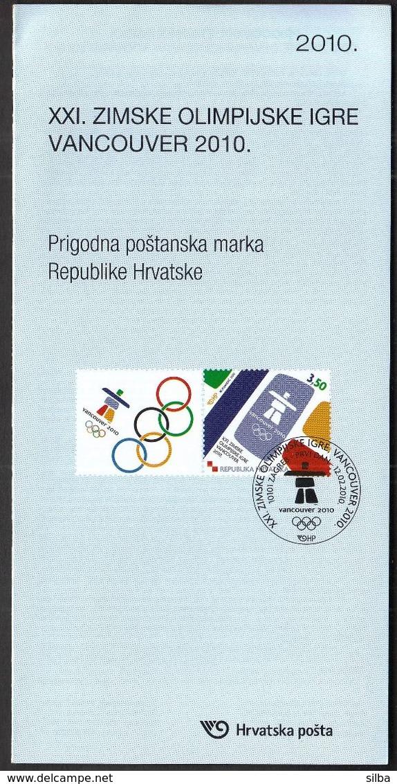 Croatia 2010 / Prospectus, Leaflet, Brochure / Winter Olympic Games Vancouver - Croatie