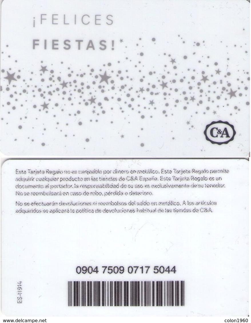 TARJETA REGALO DE ESPAÑA, GIFT CARD. C&A. 038. - Tarjetas De Regalo